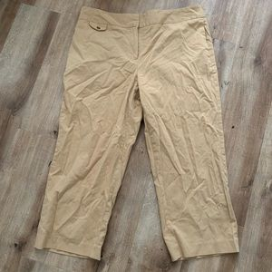 Evan Picone Beige Cropped Pants Size 12